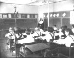 Seventh and eighth grade students at St. Joseph's Academy, Lakeland, Florida