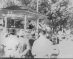 Political rally in Munn Park, Lakeland, Florida