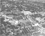 Aerial view of the Florida Southern College campus, Lakeland, Florida