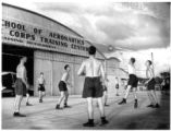 A physical training class at the Lodwick School of Aeronautics