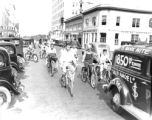 Montgomery Ward bicycle parade, Lakeland, Florida