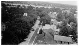 Aerial view of Massachusetts Avenue looking south
