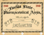 Florida Pharmaceutical Association certificate for Wilfred W. Wolfson