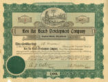 Bon Air Beach Development Company stock certificate