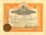 Sessions Loan and Trust Company stock certificate