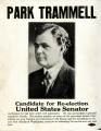 Campaign poster for Park Trammell's United States Senate campaign