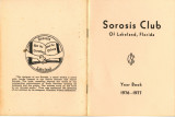 Sorosis Club Yearbook, 1976-77