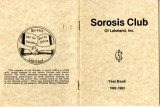 Sorosis Club Yearbook, 1982-83