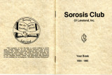 Sorosis Club Yearbook, 1984-85