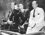 Grover Whalen, Howard Hughes, and Albert Lodwick in a New York City ticker tape parade