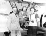 Cadet and his parents at the Lodwick School of Aeronautics