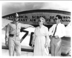 Journalist Lowell Thomas and his family at the Lodwick School of Aeronautics