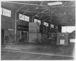 Crates of surplus military aviation equipment at Lodwick Aircraft Industries