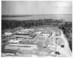 Barracks under construction at the Lodwick School of Aeronautics