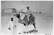 Albert Lodwick aboard a camel in North Africa